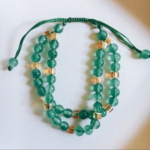 New Green Crystal Handcrafted Bracelet